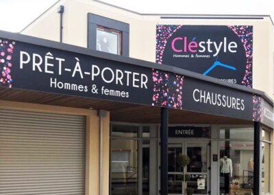 Facade boutique Cléstyle